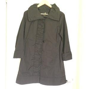 Black rainforest packable travel rain coat